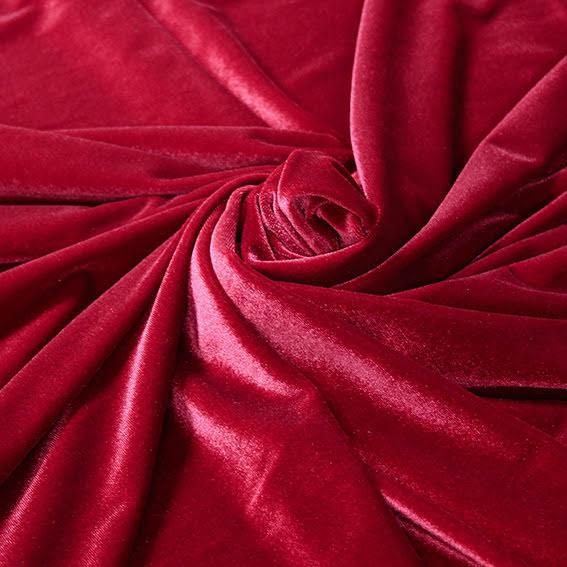 Stretchsammet - röd