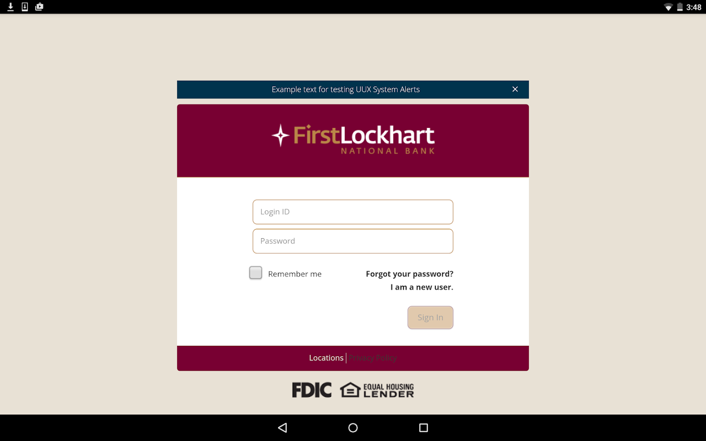 First Lockhart National Bank - screenshot
