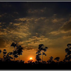 Sunset at my place  by Vinay Ad - Landscapes Sunsets & Sunrises