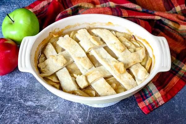 Old Virginia Apple Cobbler Baked Until Golden Brown.