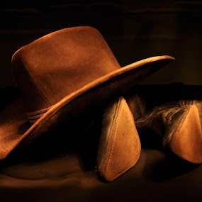 Hat I by Jay Reich - Artistic Objects Clothing & Accessories ( cowboy hat, cowboy, cintest, brow, boots, hat,  )