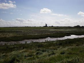 Photo: Norfolk Coast Path - From Brancaster to Warham - Burnham Overy Staithe windmill