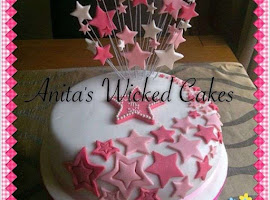 Star themed birthday cake