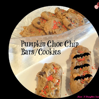 Pumpkin Chocolate Chip Bars/Cookies