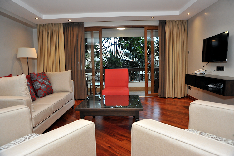 living space at Harry Thuku Street Apartments