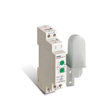 Skymningsrelä 7053N, 1 modul, separat givare, 230VAC(ersättare för 7051)