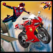 Superhero Tricky Bike Stunt Highway Racer