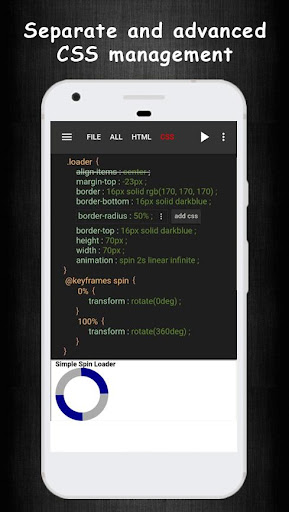 HTML CSS Live Code Editor & Learning screenshot 4