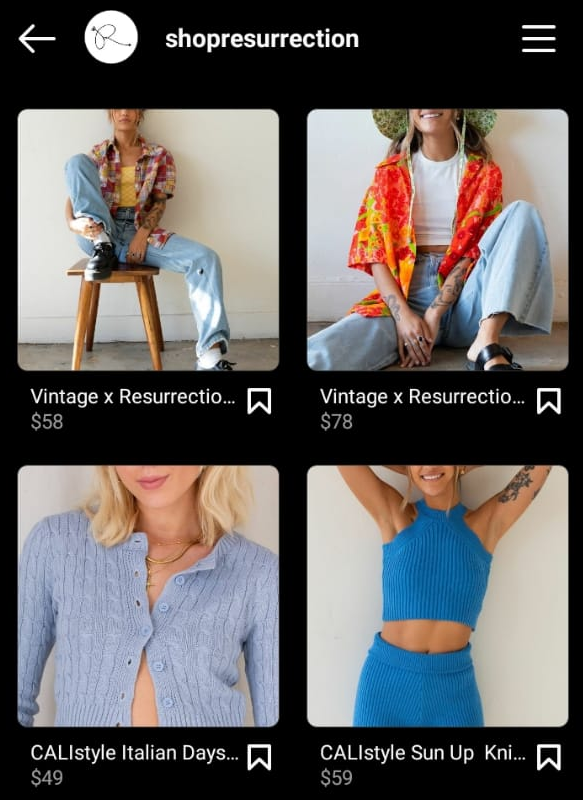 Instagram shopping posts