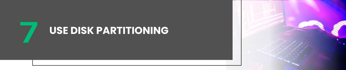 use disk partitioning vps linux hosting