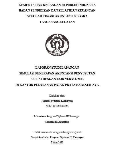 Cemana Caranya Buat Laporan Pkl Andreas Syaloom Kurniawan