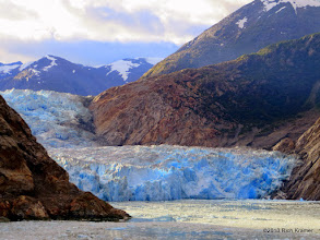 Photo: I've seen more than my fair share of glaciers but it never ceases to amaze me how blue the ice looks.