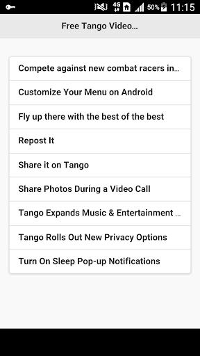 Free Tango Video Calls Guides