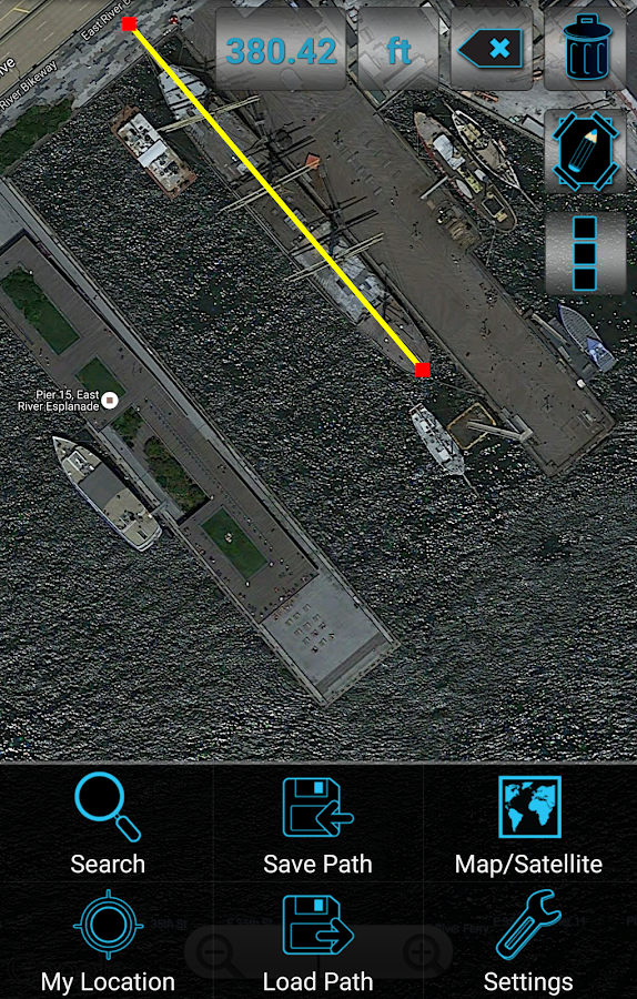 Maps Distance Ruler Lite- screenshot