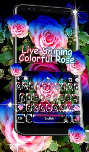 Live 3D Shining Colorful Rose Keyboard Theme 6.6.2.2019 screenshots 1