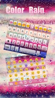 COLOR RAIN Emoji Keyboard Skin screenshot 05