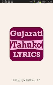 Gujarati Tahuko LYRICS APK screenshot thumbnail 1