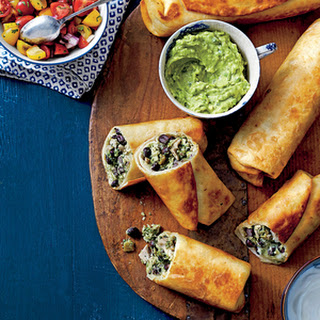 Chicken-and-Black Bean Chimichangas