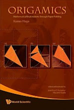 Photo: ORIGAMICS: Mathematical Explorations Through Paper Folding Haga Kazuo et al World Scientific Publishing (11 Nov 2008) 22.8 x 15.4 cm  hardcover 134 pp ISBN 9812834893  paperback 134 pp ISBN 9812834907