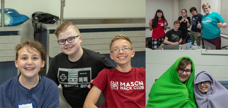 Students with their teams (@ CodeDay Ohio)