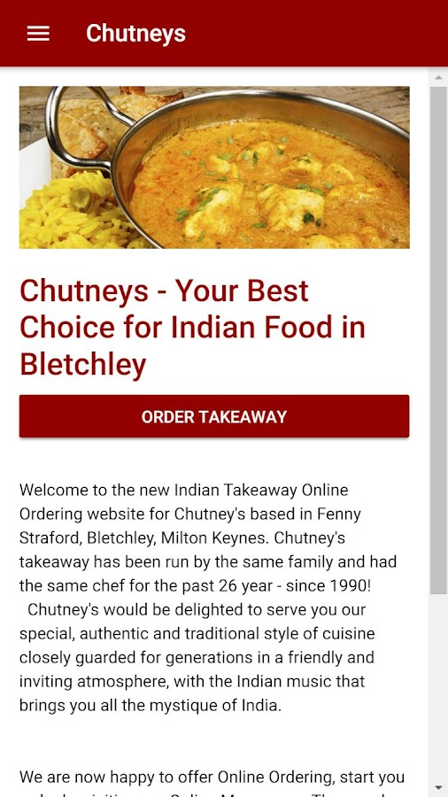 Chutneys Indian Takeaway in Bletchley- screenshot