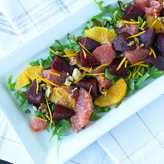 Citrus Beet Salad with Champagne Vinaigrette Dressing