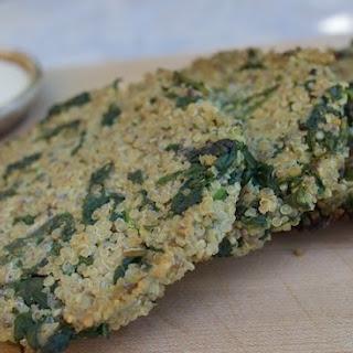 Powerhouse Spinach Quinoa Cakes with Dijon Yogurt Dipping Sauce