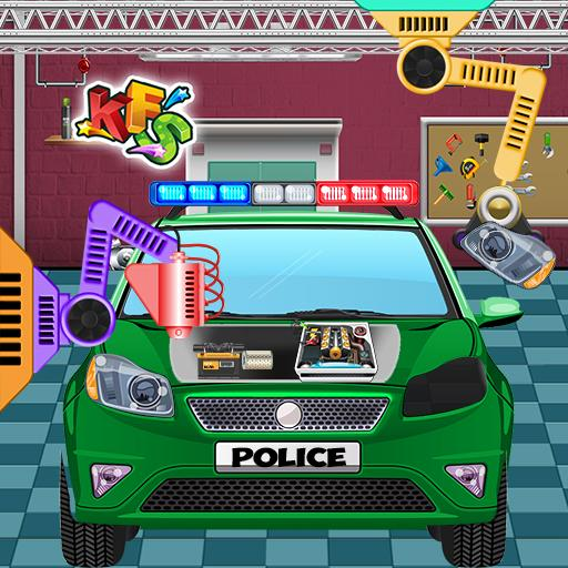 Police Car Factory: Cars Maker and Builder Fix It
