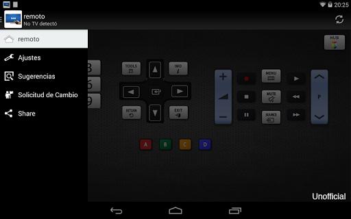 Remoto para televisor Samsung screenshot 9