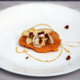 Butternut Pecan Cakes with Honey Apples and Mascarpone.