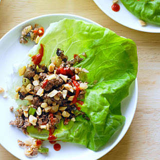 Bison and Water Chestnut Lettuce Cups.