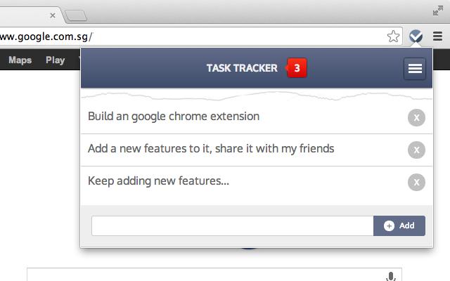 task tracker chrome web store