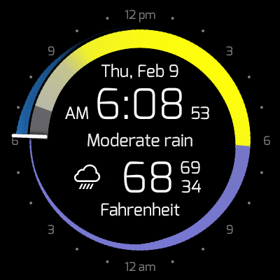 Krona Sunlight Watchface- screenshot