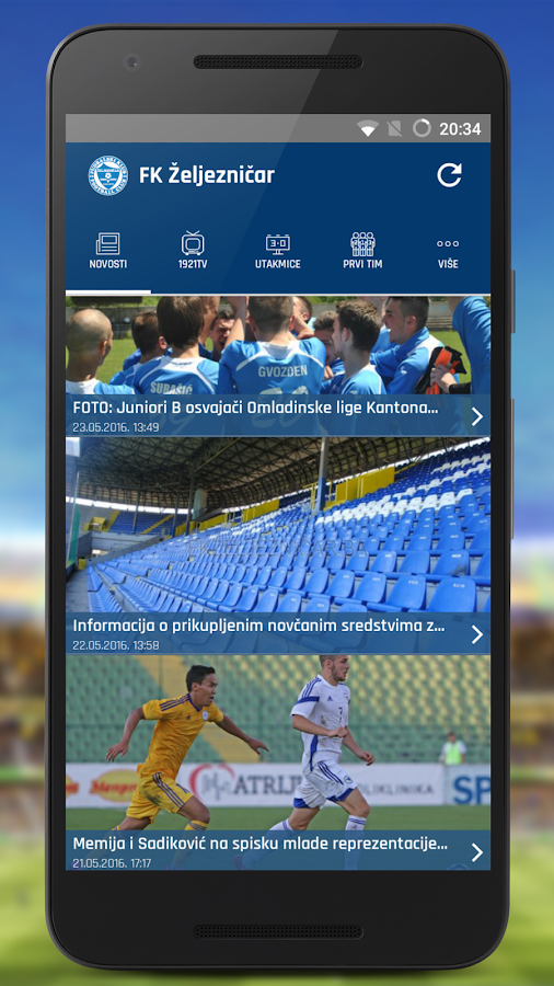 FK Željezničar- screenshot