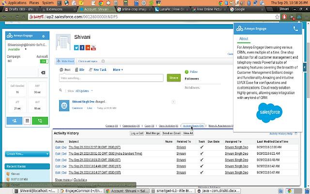Ameyo Engage Toolbar chrome extension
