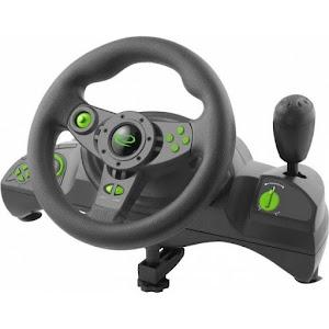Volan gaming Esperanza EGW102, PC/PS3, Negru