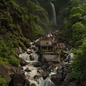 Waterfall near Nahan, Himachal Pradesh #2 by Ajay Sood - Landscapes Waterscapes ( himachal pradesh, misty waters, ajay, sood, waterfall, india, travelure, nahan, Water )