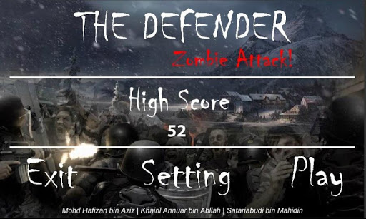 The Defender : Zombie Attack