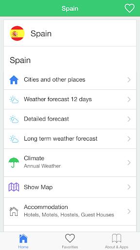 スペインの天気予報 旅行者のためのガイド。