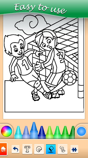 Football coloring book game apkpoly screenshots 3