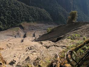 Photo: Looking down the big landslide