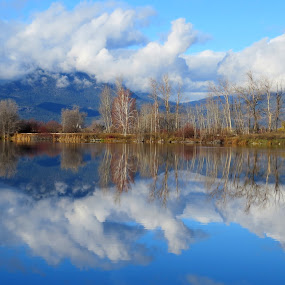 Okanagan Blue by Nick Swan - Landscapes Waterscapes ( clouds, water, waterscape, blue, reflections, lake, landscape,  )