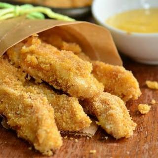 Easy Honey Mustard Baked Chicken Fries