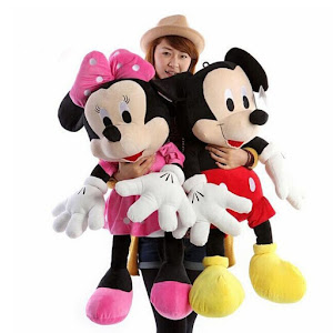 Jucarie din plus Mickey Mouse sau Minnie Mouse 100 cm