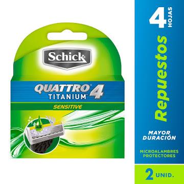 REPUESTO SCHICK QUATTRO   4 TITANIUM X2UND