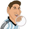 Color by number Caricatures Soccer Players icon