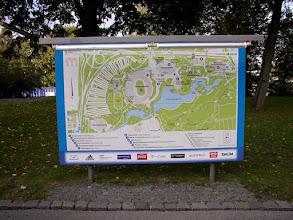 Photo: Plattegrond van het Olympia-park waar in 1972 de Olympische Spelen zijn gehouden.