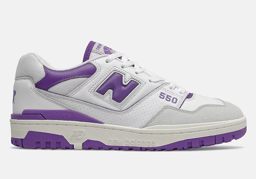 New Balance 550 Releasing in White and Purple