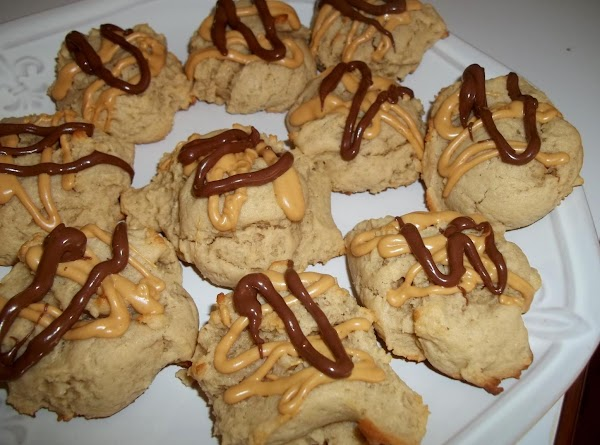 I melted some peanut butter chips, and chocolate chips and drizzled over some of...