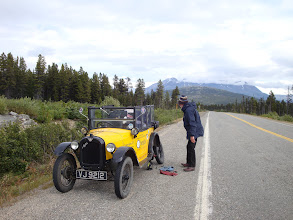Photo: The White Pass on our way to Scagway; discovering that the wheel bearing is breaking up